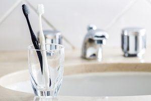 歯ブラシと洗面所